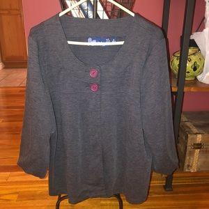 Cute knit 2 button jacket XL